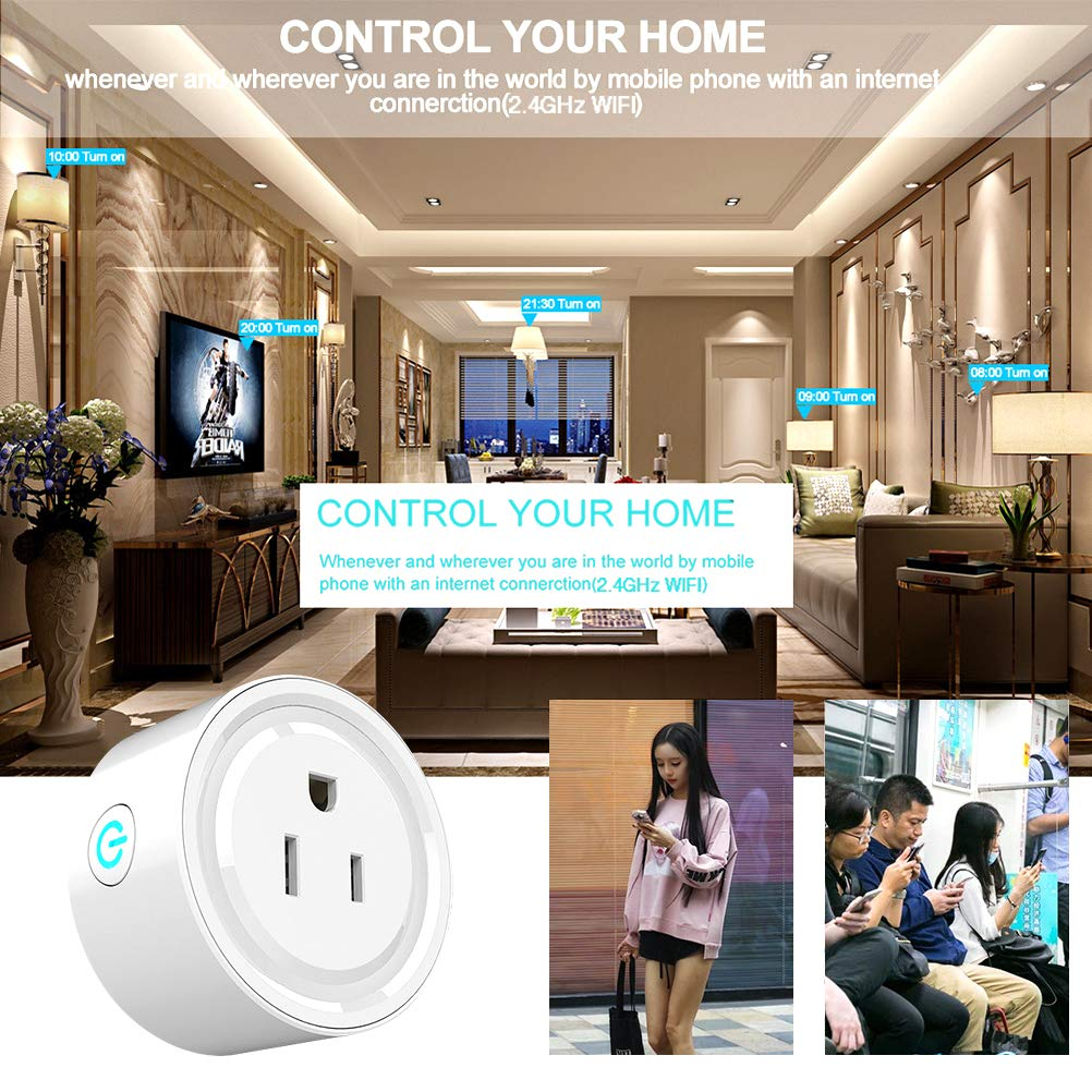 Smart Plug 3 Packs,Mini Wifi Outlet Compatible with Amazon Alexa and Google Assistant,Socket with Timer Function,No Hub Required, Remote Control Your Devices from Anywhere, ETL Certified