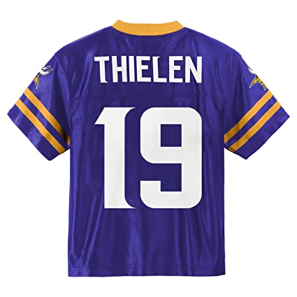 brand new 9827c 40e6b Outerstuff Adam Thielen Minnesota Vikings #19 Purple Youth Home Player  Jersey