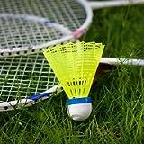 ZHENAN 12-Pack Advanced Nylon Feather Shuttlecocks,77 Grains-High Speed Badminton Balls (Yellow,Nylon) with Great…