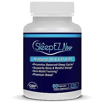 SleepEZNOW- Natural Sleep Aid with Stress Relief. With GABA, Valerian and Melatonin +