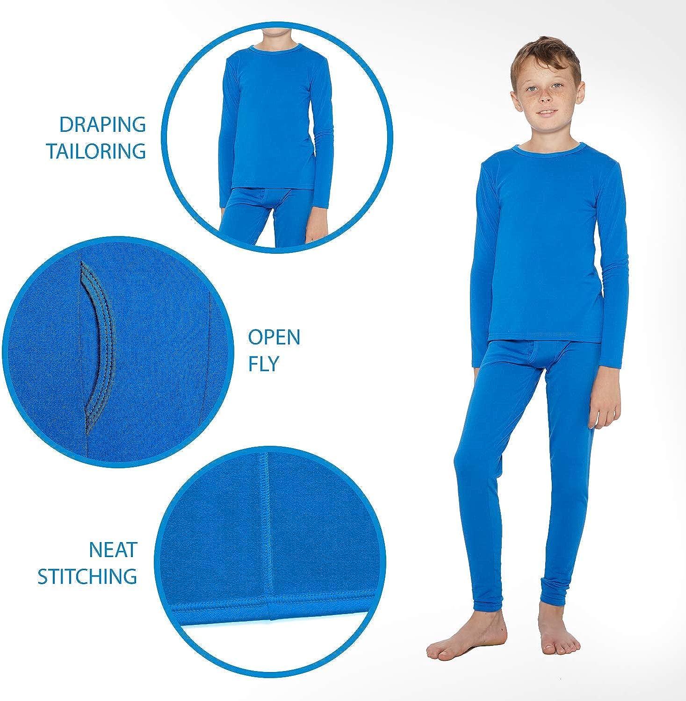 Rocky Boys Fleece Lined Thermal Underwear 2PC Set Long John Top and Bottom /…