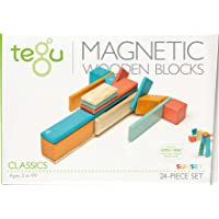 Tegu Magnetic Wooden Block Set, Sunset, 24 Piece