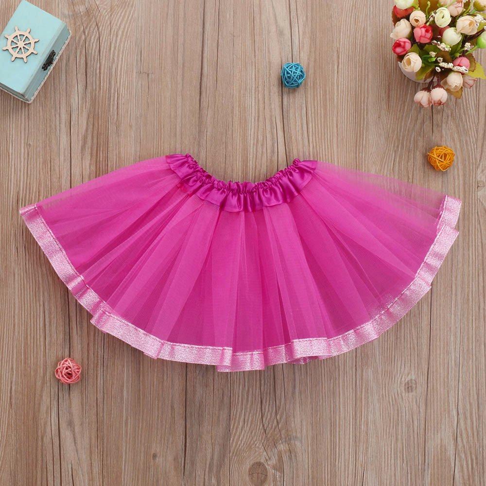 Romance8 Purple Tutu Baby Cute Baby Girls Solid Ballet Skirts Fancy Skirt