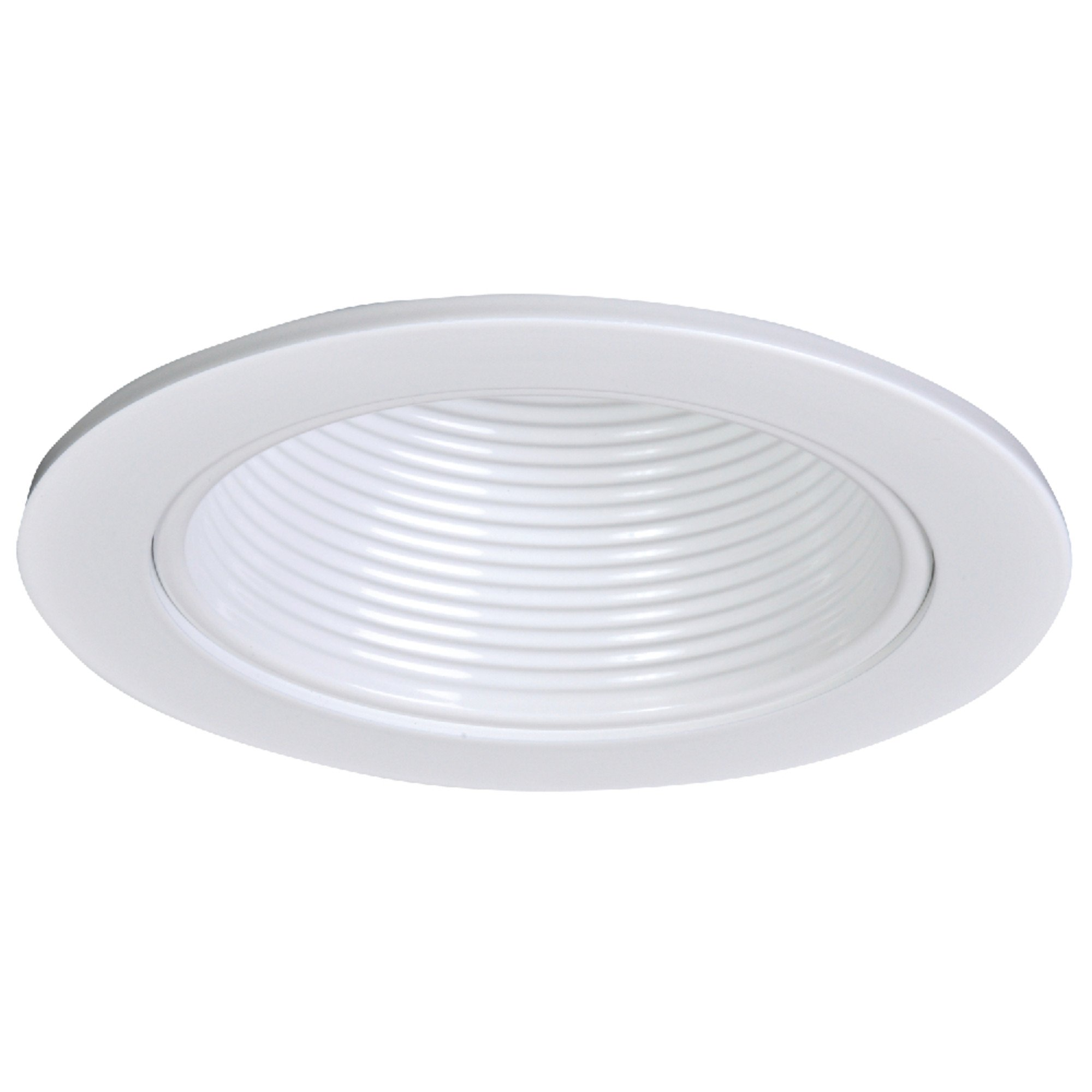 Halo 4010WB White Recessed Trim with White Baffle, 4''