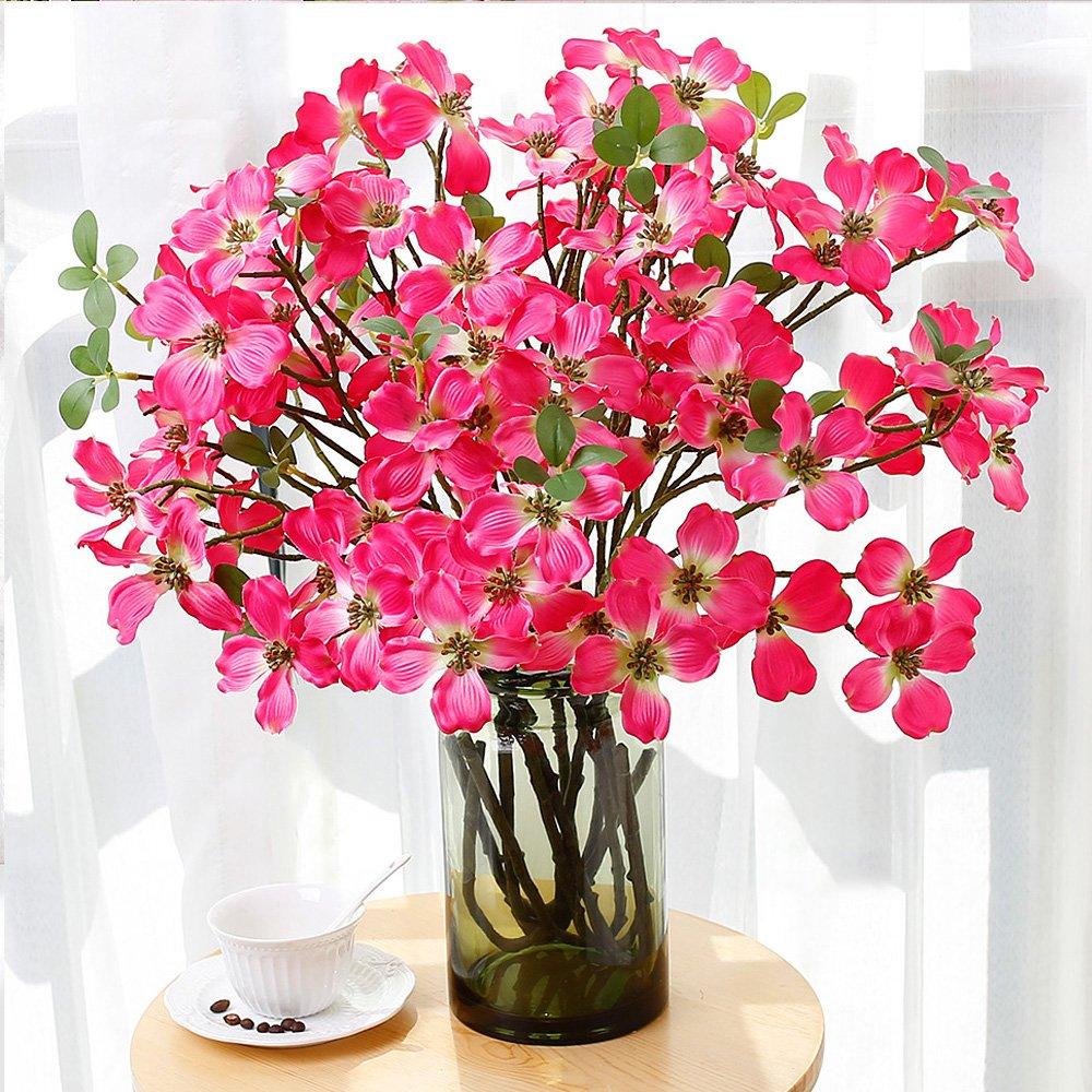 Amazon Yiliyajia 2pcs Artificial Flowering Dogwood Silk Flower
