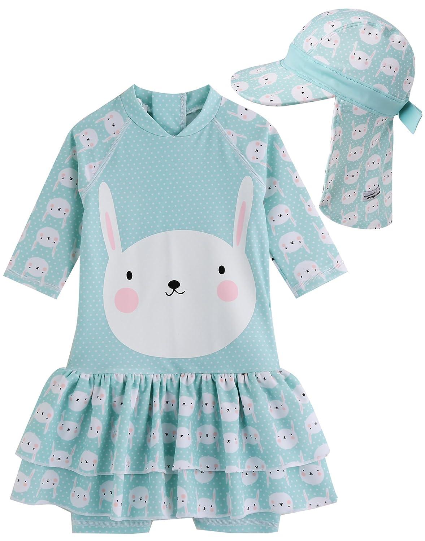 Vaenait baby 0-24M Baby Girls Rashguard Swimwear One Piece Lauren Pink Baby GSW/_044