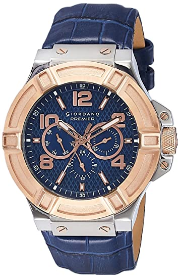 Giordano Analog Blue Dial Men's Watch-P1059-06 Men at amazon