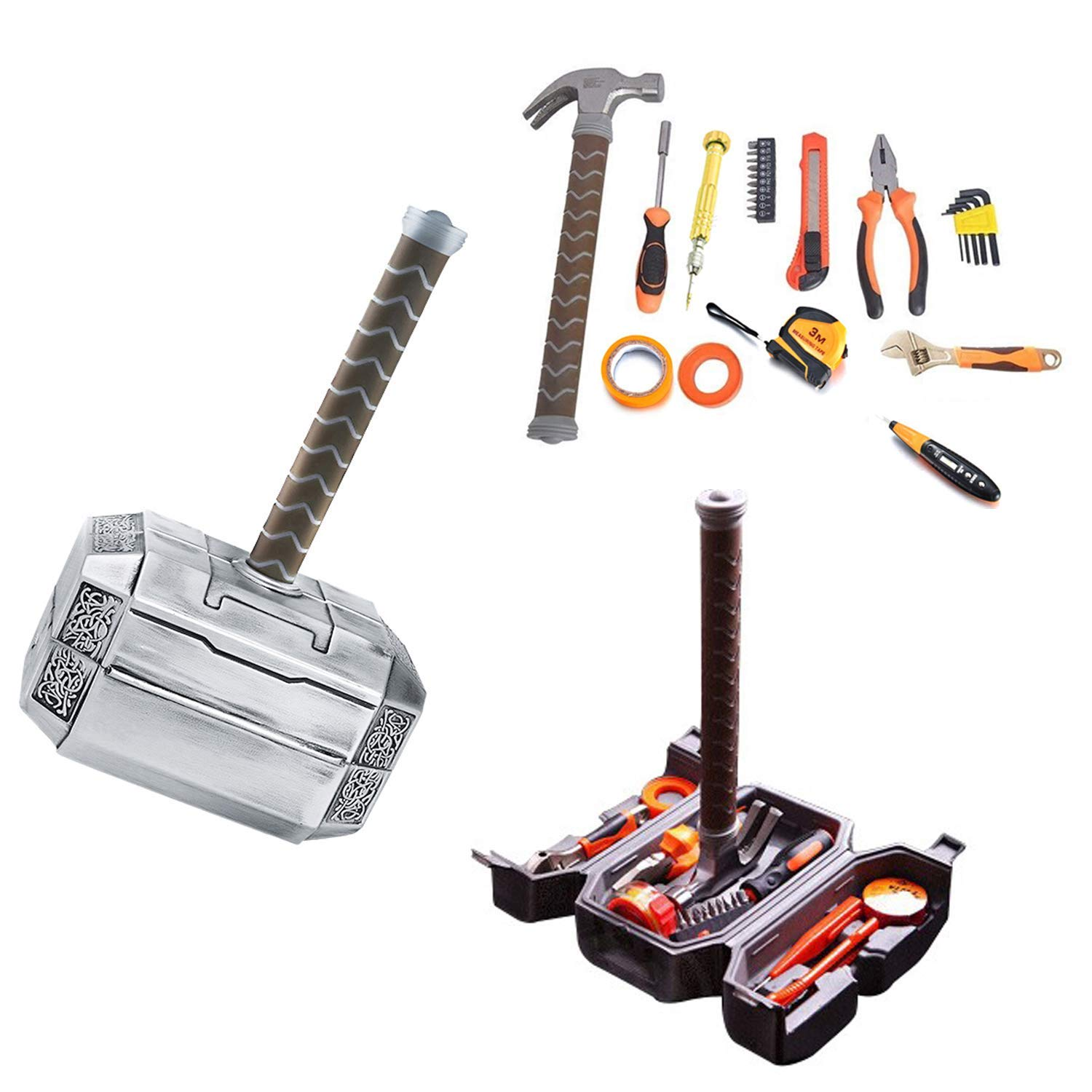 Thor Hammer Tool Set,Thor Battle Hammer tool set,Durable, Long Lasting Chrome Finish Tools with Thor Hammer case by Langjitianya