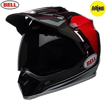 Bell Cascos MX-9 Adventure MIPS, Berma negro/blanco/rojo, grande