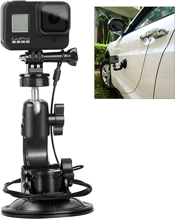 TELESIN Car Suction Cup Adapter Mount Tripod for GoPro DJI /& Other Action Camera