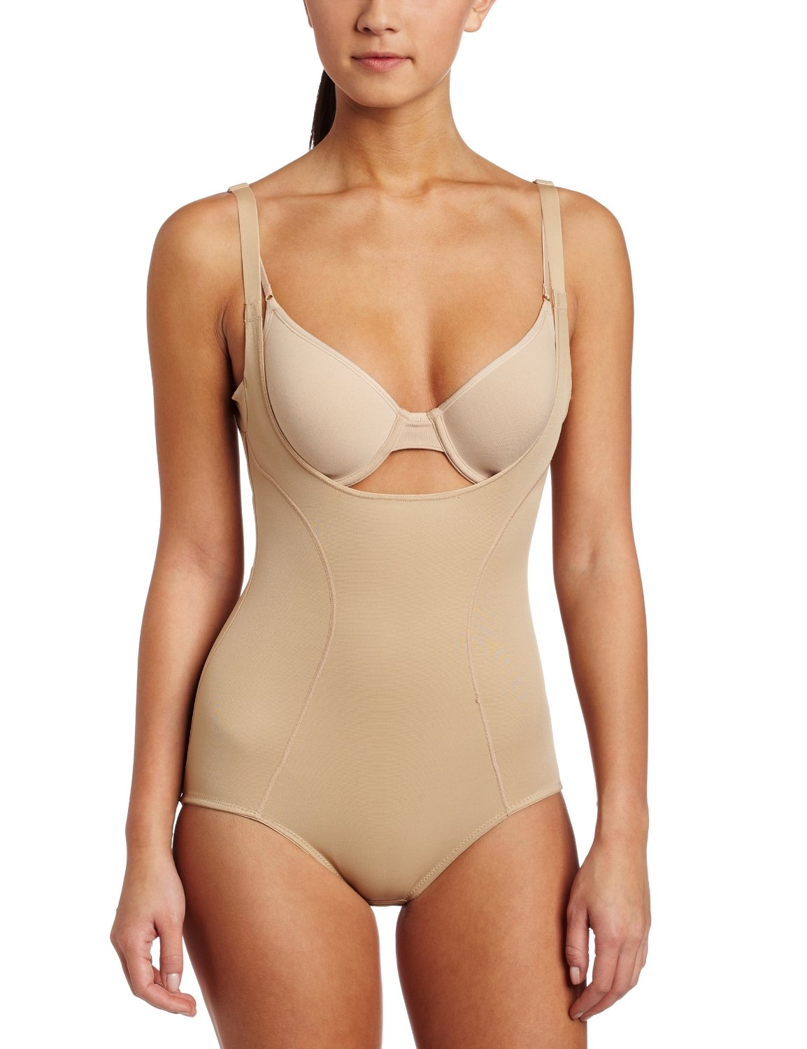 ff941a2f64a67 Flexees by Maidenform Women s Ultimate Slimmer Wear Your Own Bra Torsette  Body Briefer  2656