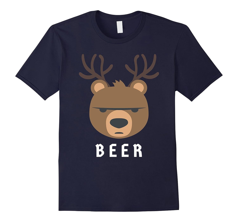 Beer Bear Deer Emoji Emoticon Fun Funny Stuff T Shirt Tee-CD