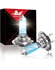 WinPower 2 X H7 55W Halogen Headlight Bulbs High Brightness 5500K Warm White PX26d Halogen Headlamp Car Motorcycle Light