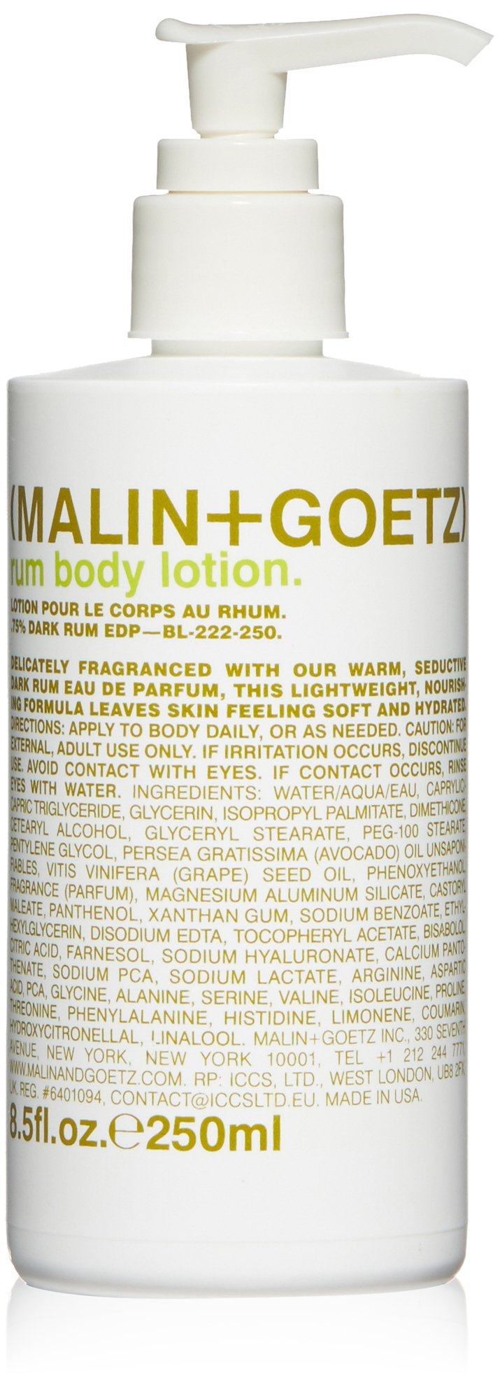 Malin + Goetz Rum Body Lotion, 8.5 Fl Oz