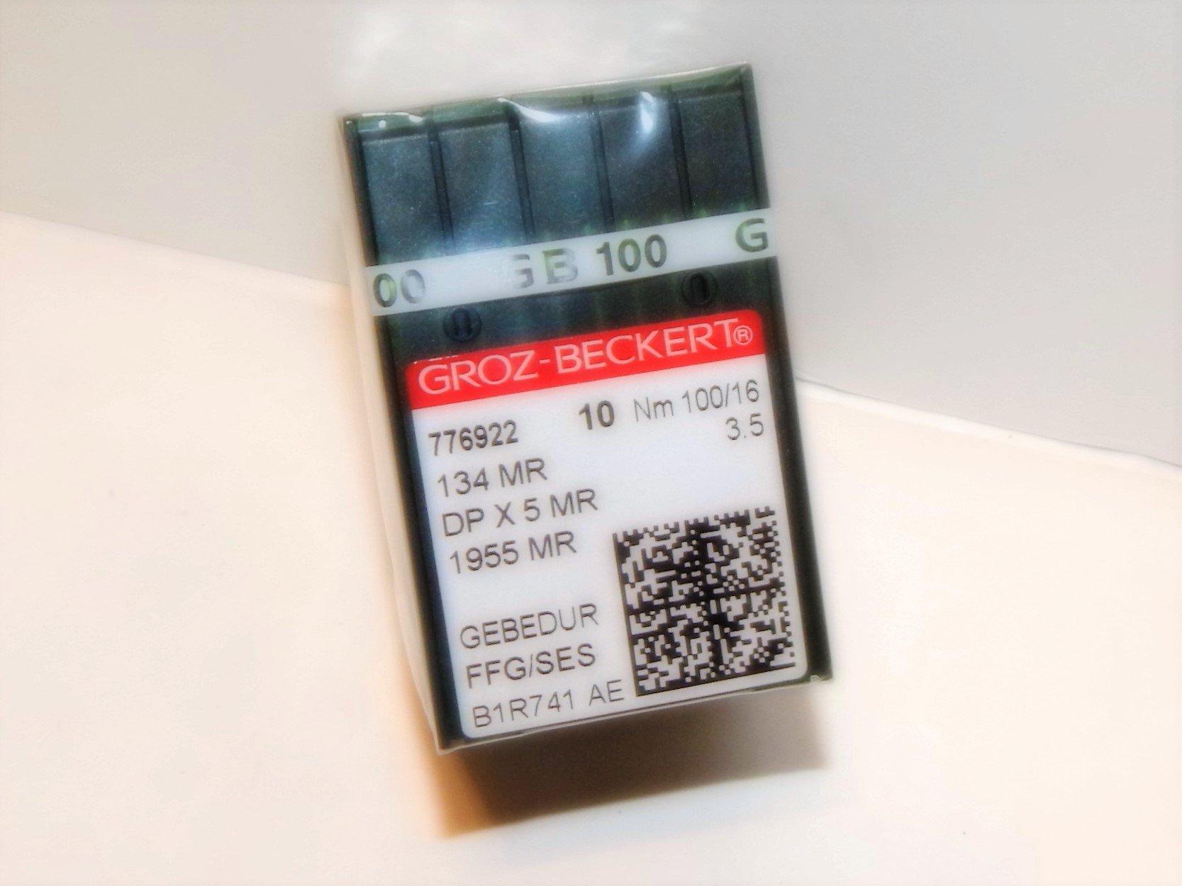 100 GROZ-BECKERT GEBEDUR 134 MR / 135X5 MR Titanium Quilting Machine Needles (MR4.5 (120/19)) by Groz-Beckert