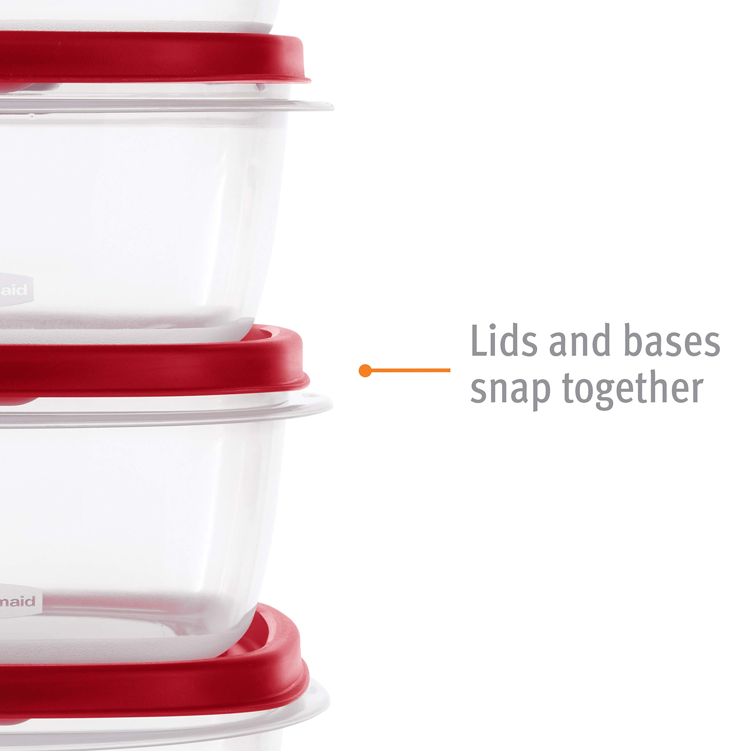 Rubbermaid 2063704 Easy Find Vented Lids Food Storage Container, 42pc New, Racer Red by Rubbermaid (Image #5)