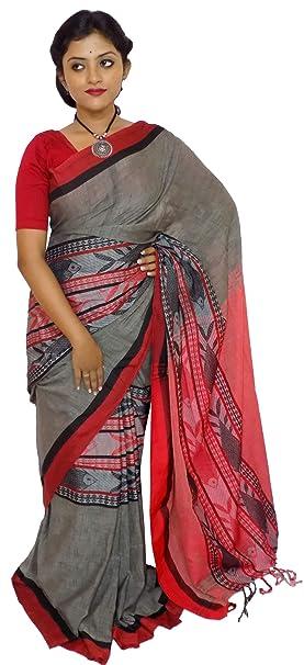 3d4a3c6b2f7a9 Kheyali Boutique Handloom Grey Khadi Cotton Saree(KB-HL-0052 ...