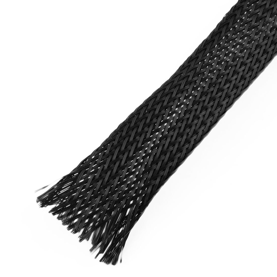 uxcell 11M Long 20mm Wide Nylon Elastic Expandable Sleeving Wire Harness 3pcs Black