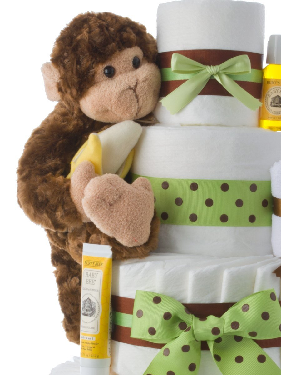 f0c0c2f0fe5e Amazon.com   Diaper Cake - Monkey Theme Handmade By Lil Baby Cakes ...