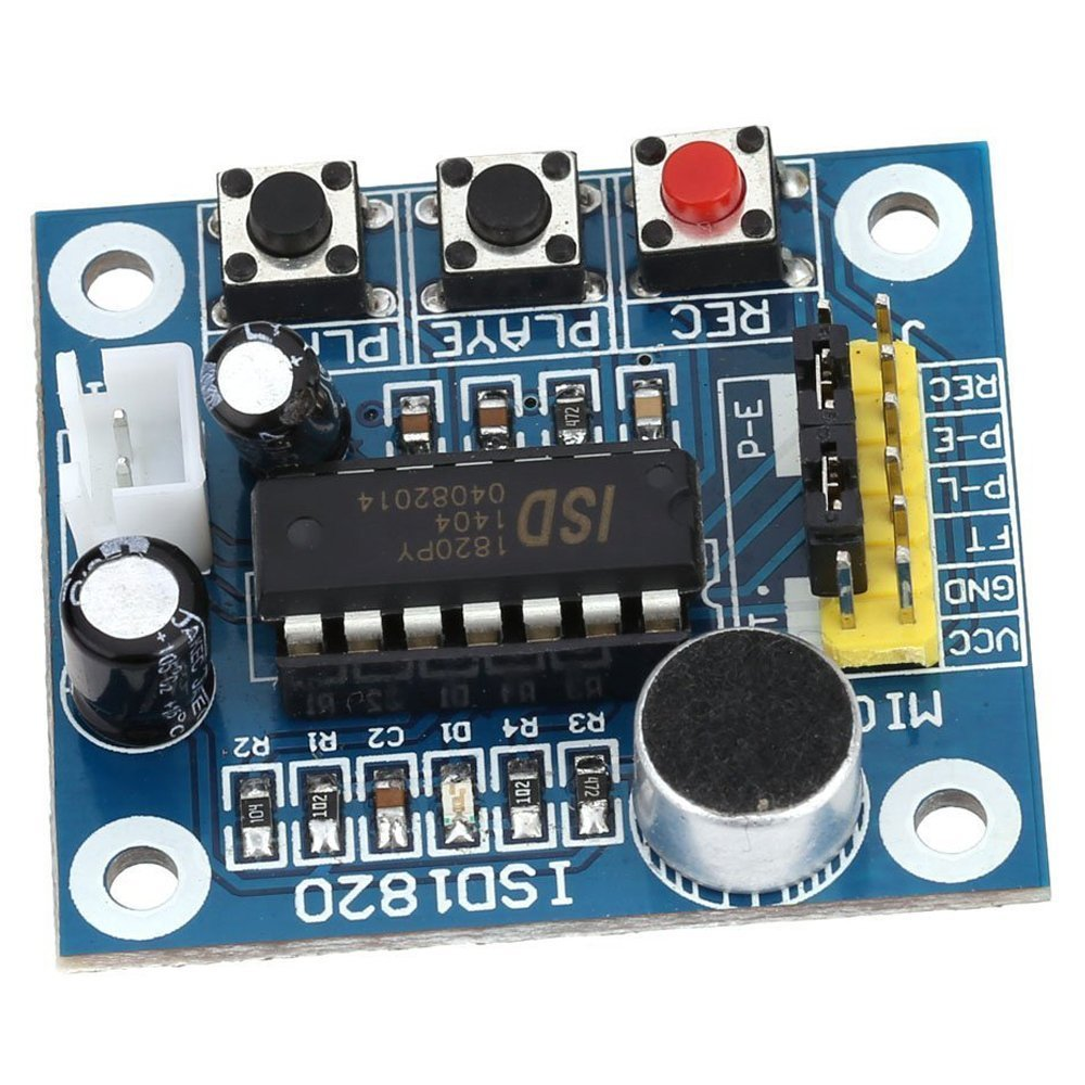Sound Voice Recording Playback Module Sodial R Speaker To Microphone Converter Circuit Todays Circuits Isd1820 With Micro Audio Speakers Electronics