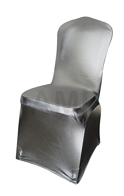 Phenomenal Metallic Gold Or Silver Spandex Lycra Chair Covers Wedding 1 6 10 30 50 100 150 10 Silver Andrewgaddart Wooden Chair Designs For Living Room Andrewgaddartcom