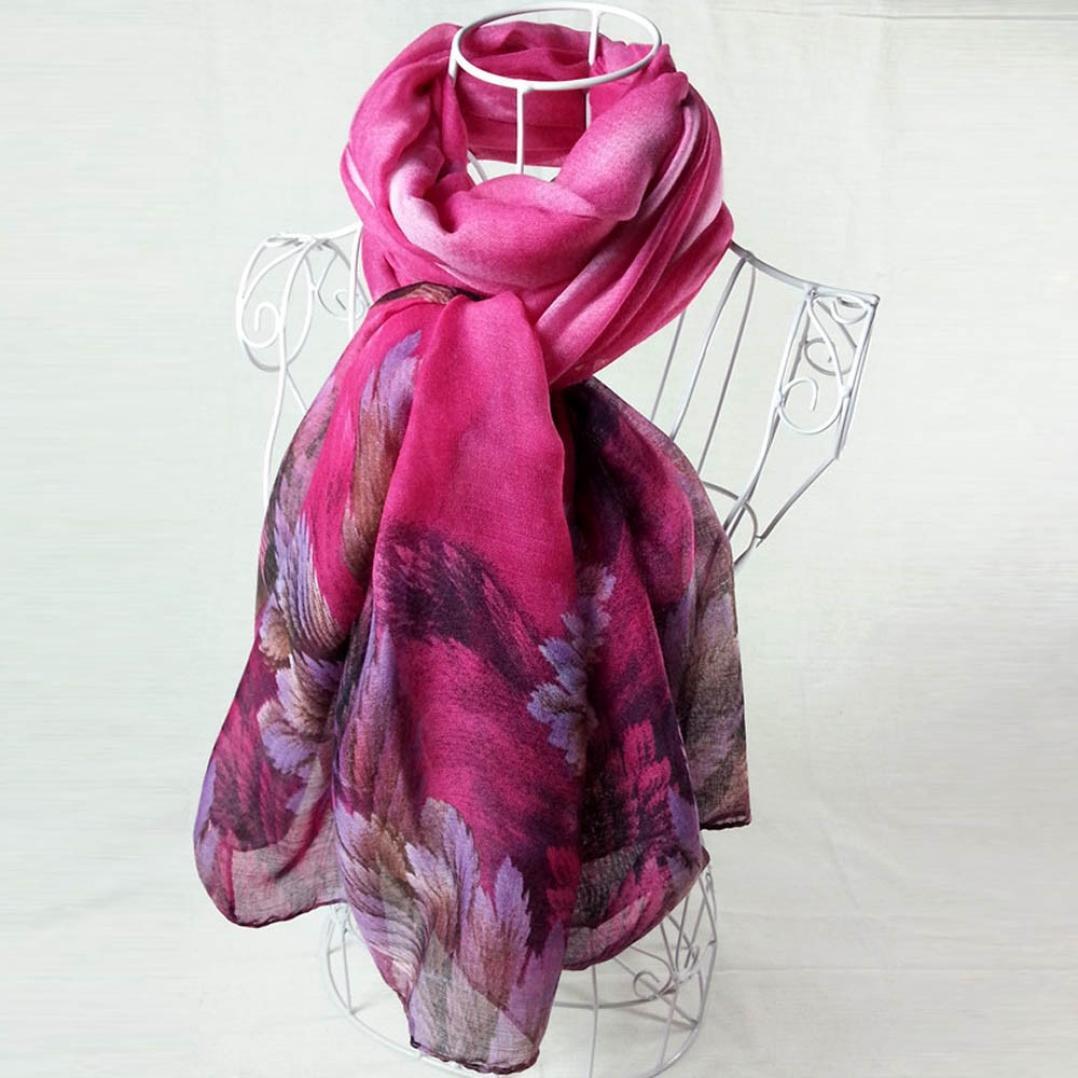 a551f1340cacf HUHU833 Écharpes châle foulards Femmes mode impression longue écharpe châle  Automne Hiver (Bleu): Amazon.fr: Vêtements et accessoires