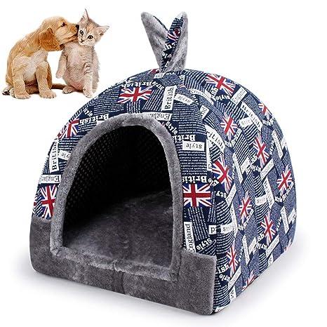 UTOPIAY Bandera Inglesa Casa para Mascotas, Gato lgloo Cama ...
