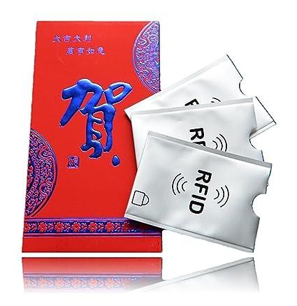 MOTR 3x RFID Blocker Funda protectora para tarjetas de crédito (tarjetas bancarias, contactless, de acceso, de autobús, de transporte). Protege de los ...