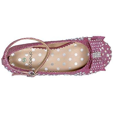 8d388420f SOBEYO Kids Dress Shoes Girls Glitter Rhinestone Bow Accent Mary Jane Pumps  SBO-MARY-50 Flats