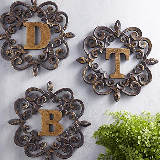47th and Main Distressed Wooden Monogram Letters Wall Art Decor