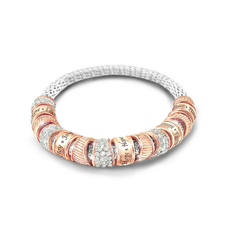 Women's Bracelet: Nature's Healing Touch Bracelet by The Bradford Exchange