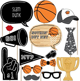 product image for Big Dot of Happiness Nothin' but Net - Basketball Photo Booth Props Kit - 20 Count