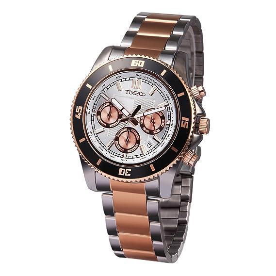 TIME100 W70081G.03A de acero del reloj del cuarzo de los hombres en el mundo de la moda y el espaciado: Time100 Watch: Amazon.es: Relojes