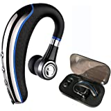 Bluetooth Headset,Ansin A8 Wireless Earpieces V4.1 Bluetooth Headphones Lightweight Earphones In-ear Earbuds with Microphone and MuteKey for iPhone and Android Smart Cellphone-Blue