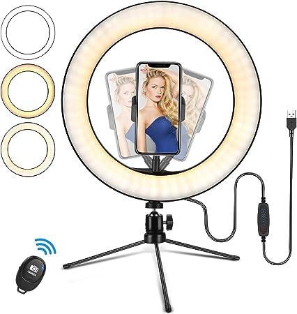 10 Ringlicht Mit Stativ Led Selfie Ringleuchte Stativ Kamera