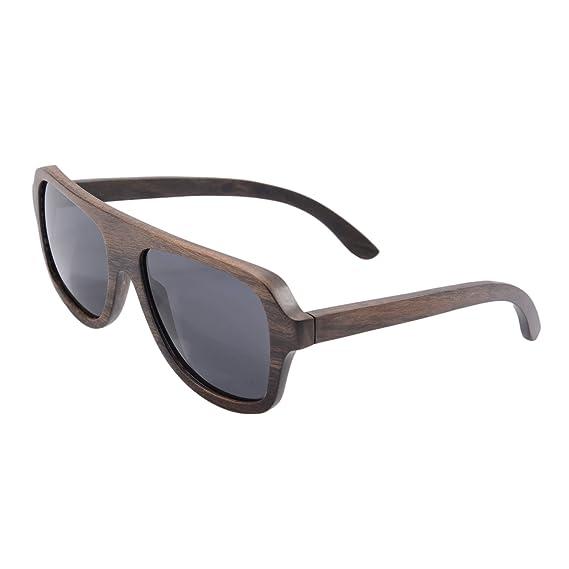 e20bca246e3 SHINU Wooden Sunglasses Polarized Sunglasses Oversized Retro Eyeglasses  Wood Frame and Temple with Case- Z6043