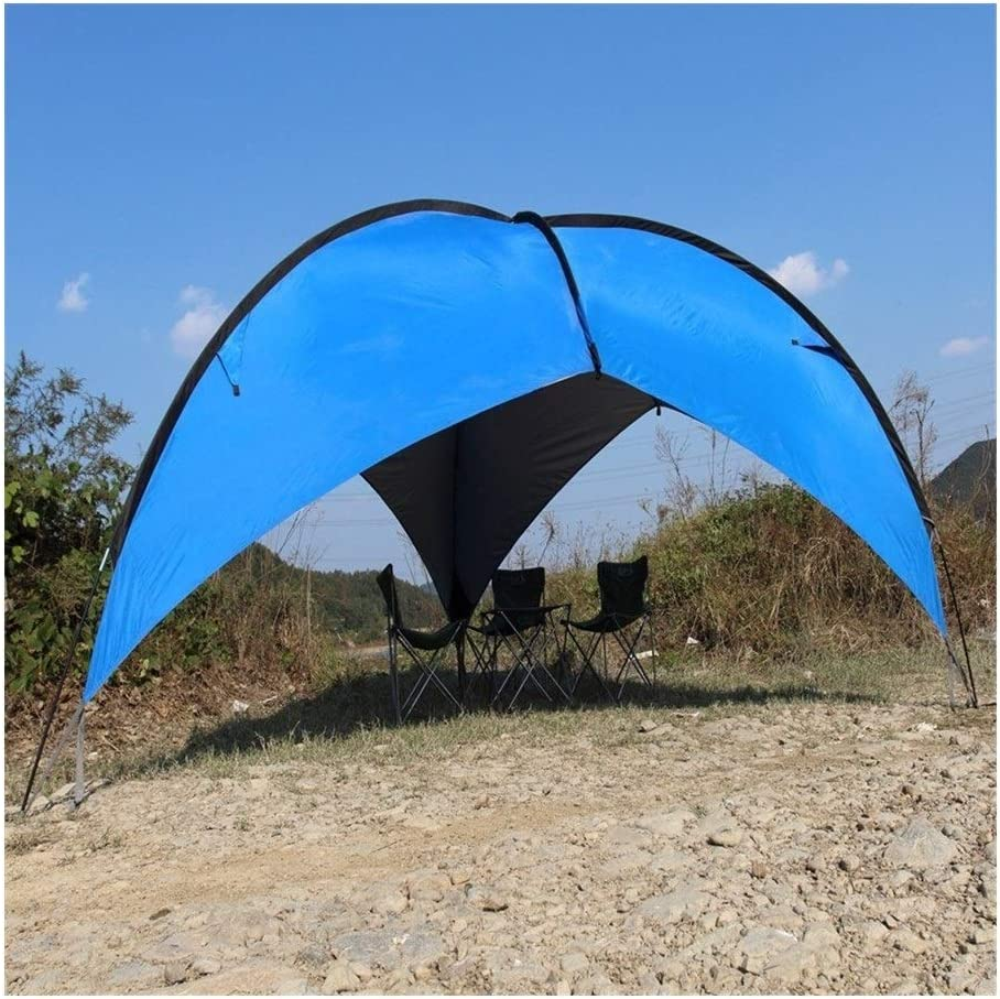 FKYNB UV Protect Gazebo Tent Grote Tent van het strand Waterproof Camping Tent Parasol Luifel BBQ Zon Shelter Outdoor zonnekap (Color : Blue) Blue