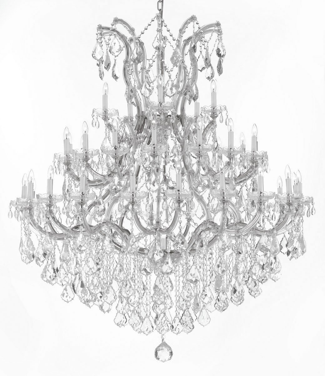 Swarovski crystal trimmed chandelier large foyer entryway maria swarovski crystal trimmed chandelier large foyer entryway maria theresa crystal chandelier chandeliers lighting h 60 w 52 amazon arubaitofo Choice Image