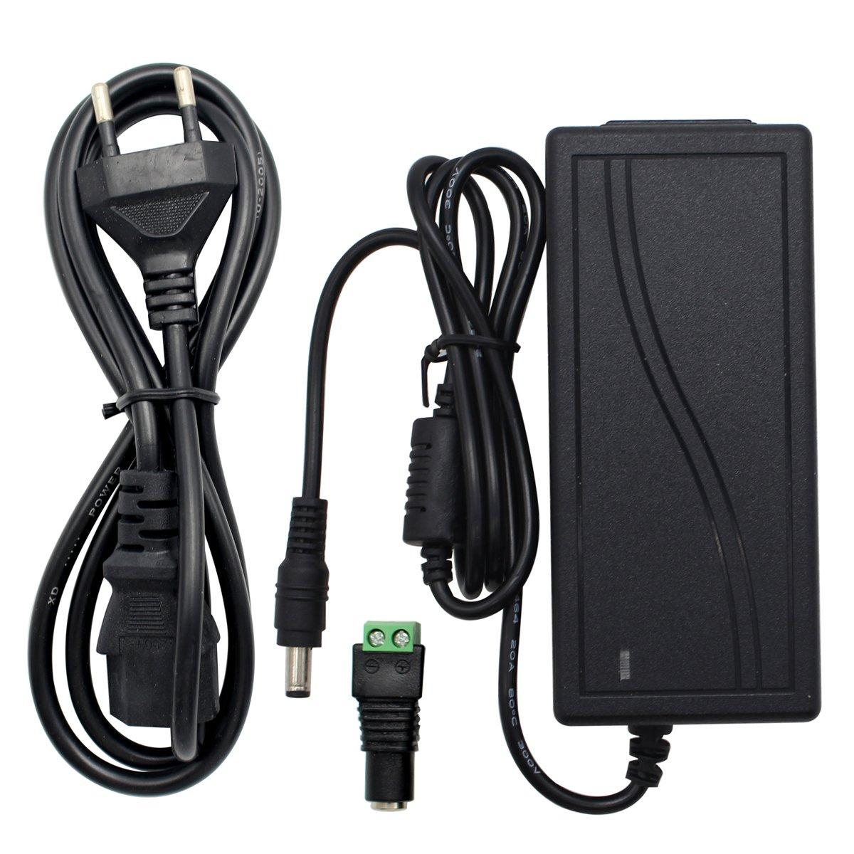 MBO Alimentation adaptateur, Transformateurs, Prise EU, Alimentation Electrique pour Bande Lumineuse LED, 12V DC, Tension d'entrée 85-265V AC (12V 6A)