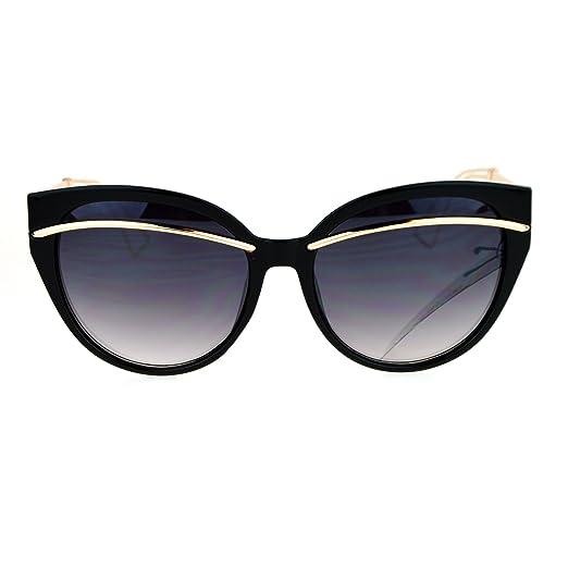 78d40219e6 Womens Sunglasses Oversized Butterfly Frame Trendy Shades UV 400 Black