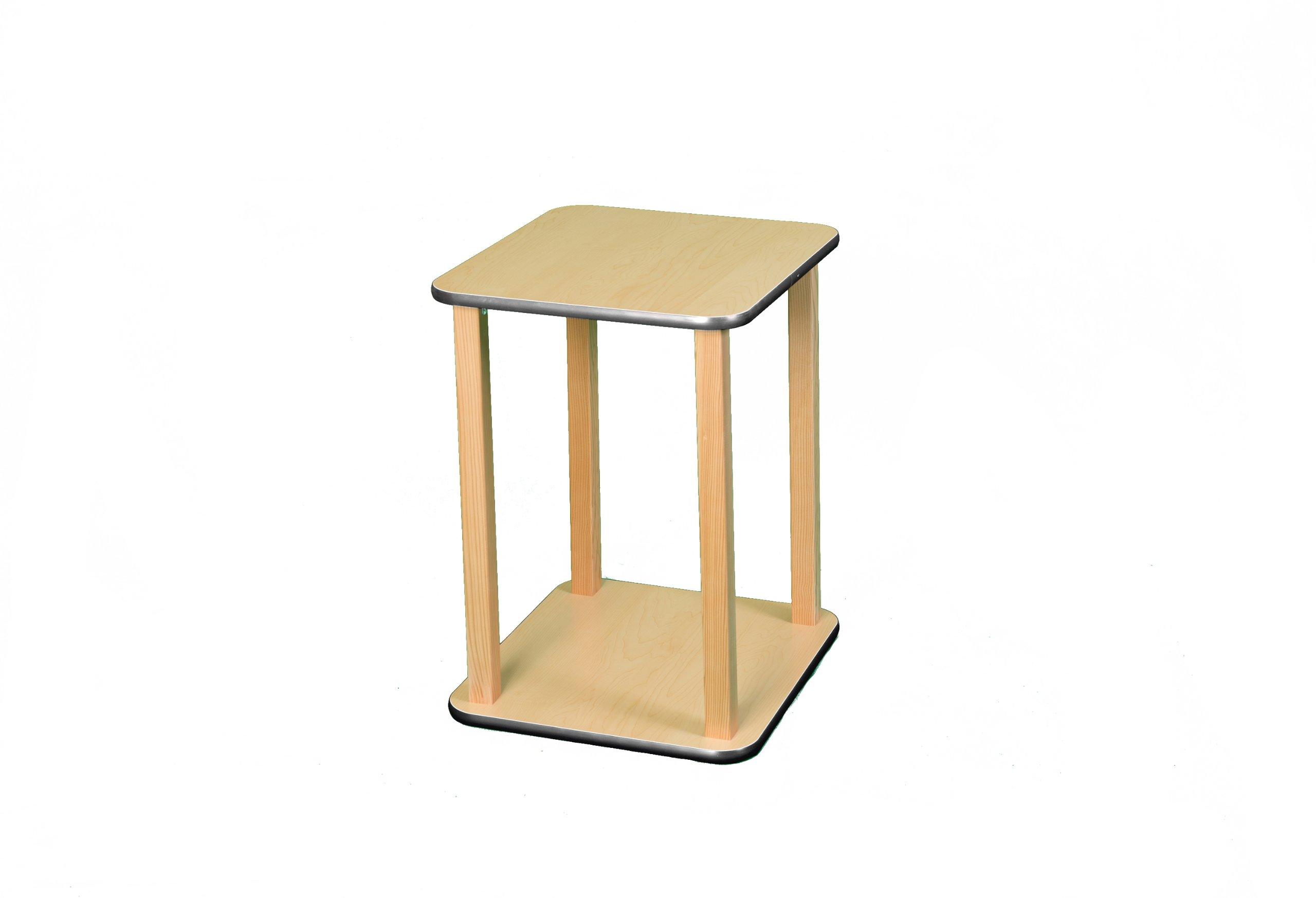 Wild Zoo Furniture CPU and Printer Stand, Maple/Black