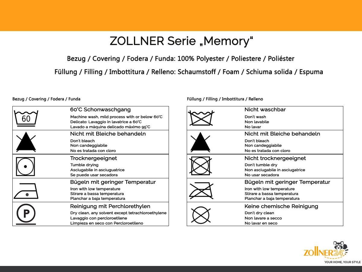 ZOLLNER® Topper viscoelástico 160 cm/colchoncillo Espuma viscoelástica/cubrecolchón Espuma con Memoria, 160x200 cm, 5 cm Altura, en Otras Medidas, ...