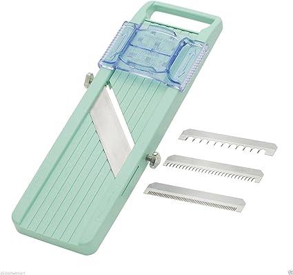 """New Benriner Japanese Mandolin Vegetable Slicer Green /""""Made In Japan/"""""""