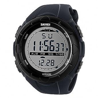 TTLIFE 1025 Reloj de Pulsera Multi Función Unisex Digital LED Relojes  Electrónicos Deportivos Resistentes al agua (gris)  Amazon.es  Deportes y  aire libre b977eca1da8b