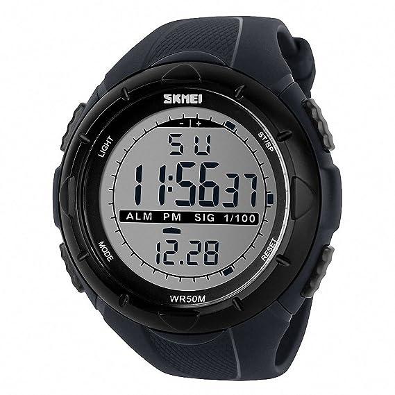 TTLIFE 1025 Reloj de Pulsera Multi Función Unisex Digital LED Relojes Electrónicos Deportivos Resistentes al agua