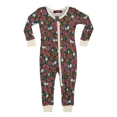 a7e07d629 Amazon.com  MilkBarn Bamboo Zipper Pajama - Teal Floral  Clothing