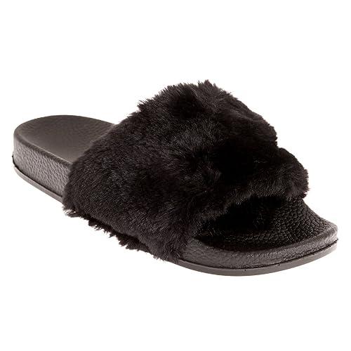 7bed84182 Sand Rocks - Chanclas con Pelo sintético para Mujer  Amazon.es  Zapatos y  complementos