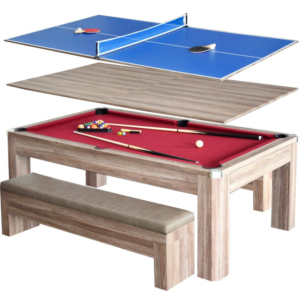 Hathaway Newport 7 ft. Pool Table Combo Set with Benches by Hathaway