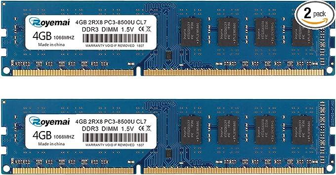 New Micron 4GB 2RX8 PC3-12800U DDR3-1600MHz 240PIN DIMM Intel Desktop Memory RAM