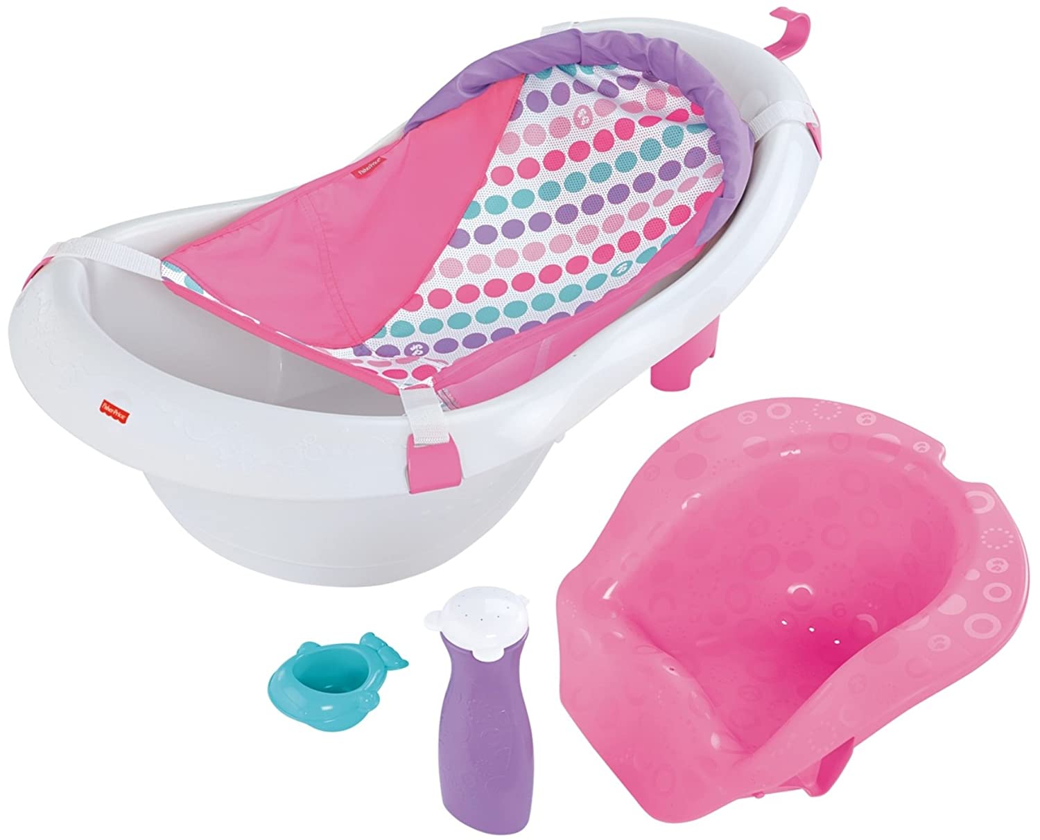 Fisher-Price 4-in-1 Sling 'n Seat Tub, Pink FHL04